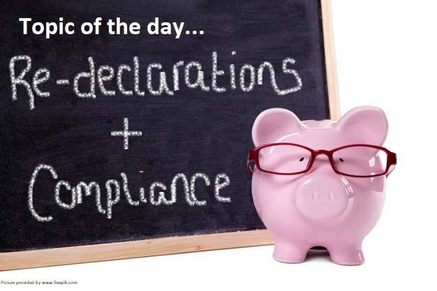 How To Complete Your Re-Declaration Of Compliance